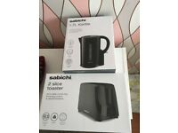 New black toaster and kettle