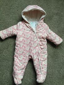 Girls snowsuit age 3-6 months, Mini-club