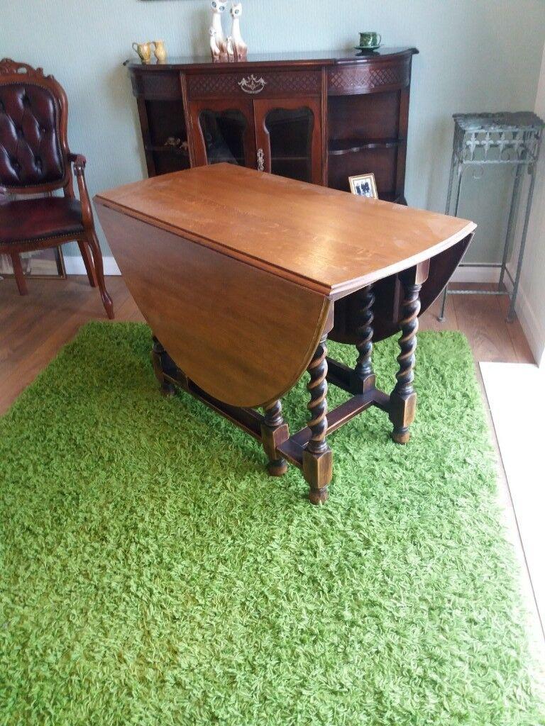 Vintage Oak gateleg table good condition £45 pick up HU12 9QN Thorngumbald..