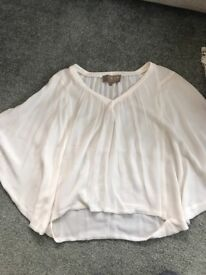 Silk sweep sleeve top