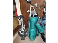 Golf clubs, bag and trolley - £55.00 - Buyer collects