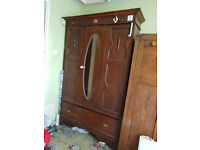 RETRO VINTAGE CIRCA 1930s to 1940s MIRRORRED WARDROBE