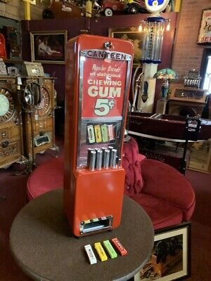 "1950's Canteen Wrigley's 5 Cent Packaged Gum Vending Machine  ""Watch Video"""