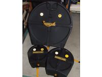 "HardCase drum cases: 22"", 13"", 10"" - pristine condition, used twice only"