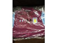 Aston Villa tracksuit top LARGE