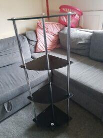 4 tier glass corner unit