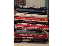 OVER 100 MARTIAL ARTS BOOKS - AIKIDO, KARATE/WADO RYU/KATA, WEAPONS, SELF DEFENCE, ETC