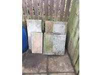 Concrete slabs - various sizes - FREE