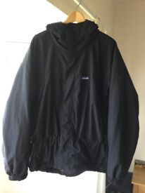 Patagonia Winter Jacket, Fleece Lined, Hooded - Large.