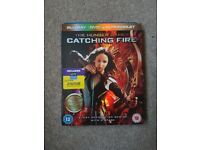 The hunger games catching fire blu-ray. In good working condition.