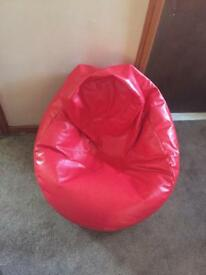 Red big beanbag £10 If collected asap
