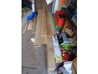 SOLID OAK WOOD FLOORING 100mm X 14mm tgv £15 sqm MAIDSTONE
