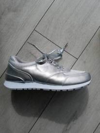 Silver sparkly trainers size 7 *Brand New*