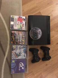 PlayStation 3 plus 4 Games