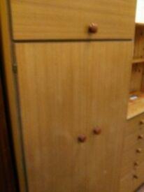 2 door wardrobe with upper cupboard