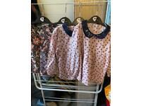 3/4 years girls gorgeous tops worn a few times brilliant clean condition still
