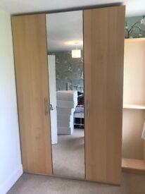IKEA Pax 3 Door Mirrored Wardrobe