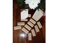 wooden wood menu holders number holder Photo Holder X 16