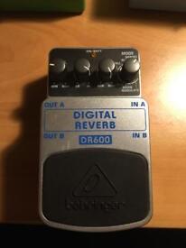 Behringer Digital Reverb guitar pedal Dr600