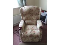 A Beautiful as New Condition Rise and Recline Armchair.