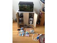 Full Fish Tank Setup - Tank External Filter Heater Driftwood etc.