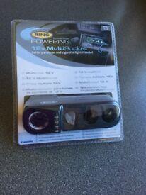 RING Powering 12v Multisocket. Brand new. In Sealed box.