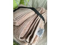 House of Fraser Linea bale of Egyptian cotton Beige towels