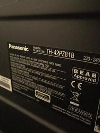 """42"""" Panasonic Viera (plasma) HD TV with freeview."""