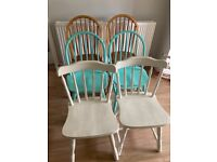 6x wooden dinning chairs upcycle