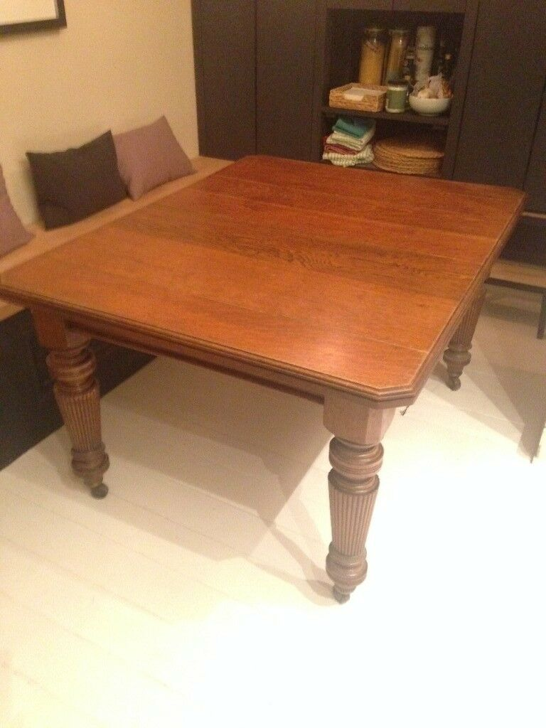 Antique Extending Dining Room Table