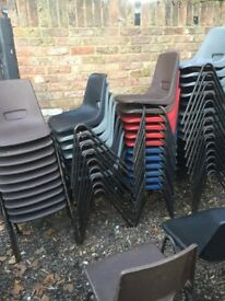 48 Stackable chairs kid size