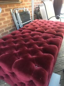 2 x Large Square Pouffes