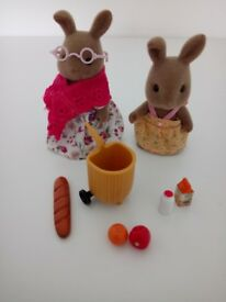 Sylvanian families Hazel and Rhianna's day out - Rare