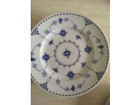Denmark Blue Dinner plates / tea plates / cups and saucers