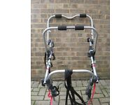 Bike rack , takes 3 bikes, suitable for golf type hatchback, good condition