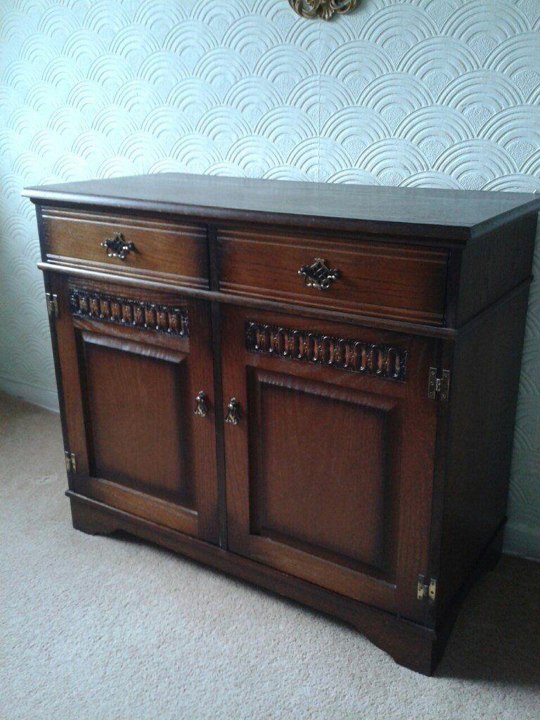 Dark Wood Ercoll Style Small Dresser