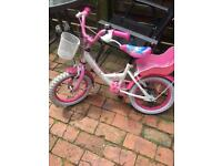 "14"" Princess bike with stabilisers"