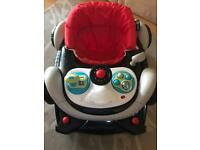 MyChild Coupe Baby Walker Rocker With Car Steering Wheel and Horn 6 Months