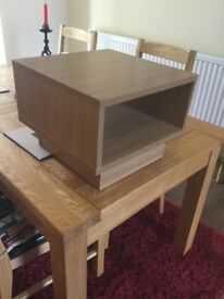 Oak effect TV Video stand. Good condition.