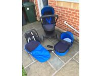 iCandy Peach 3 cobalt and black travel system