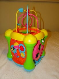 Colourful Activity musical cube for baby or toddler - in excellent condition