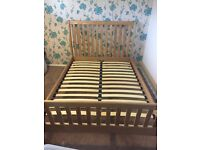 Solid Wood Double Bed Frame Excellent Condition