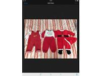 3 x boys Christmas outfits 3-6 months