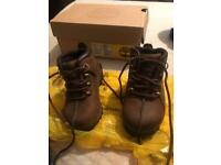 Young boys timberland boots size 6 infant