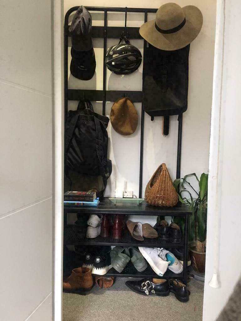 Pinning Coat Rack W Shoe Storage Bench