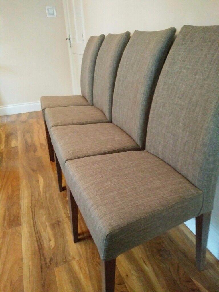 4 Brand New Harveys Piston Range Dining Chairs