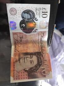£10 AK47 note