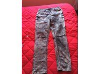 Women select jeans size16