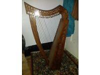 19 string celtic harp, hardly played