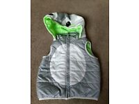 H&M Padded gilet with a hood 9/12 months
